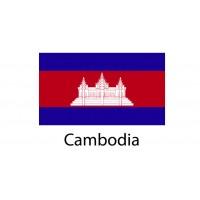 Cambodia Flag sticker die-cut decals