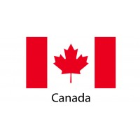 Canada Flag sticker die-cut decals
