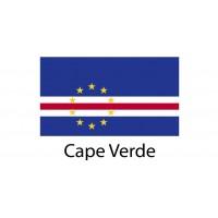 Cape Verde Flag sticker die-cut decals