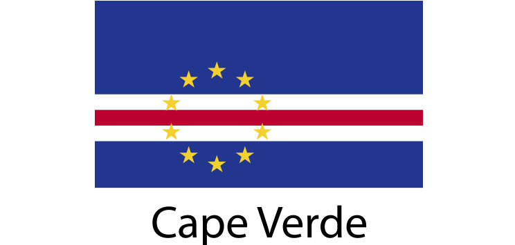 Cape Verde Flag sticker die-cut decals