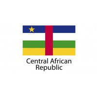 Central African Republic Flag sticker die-cut decals