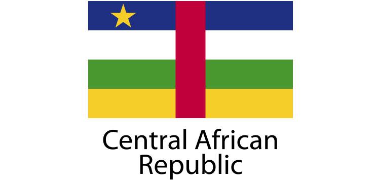 Central African Republic Flag sticker die-cut decals