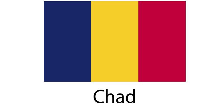 Chad Flag sticker die-cut decals