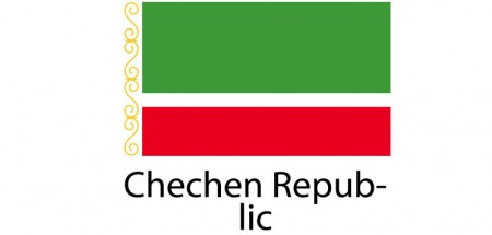 Chechen Republic Flag sticker die-cut decals