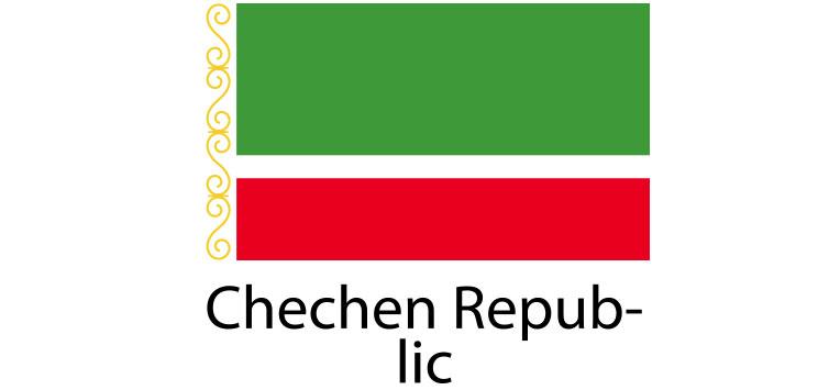 Chechen Republic Flag sticker die-cut decals