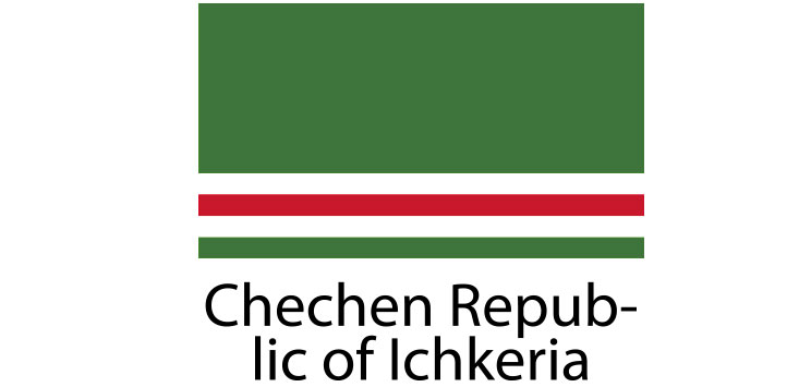Chechen Republic of Ichkeria Flag sticker die-cut decals