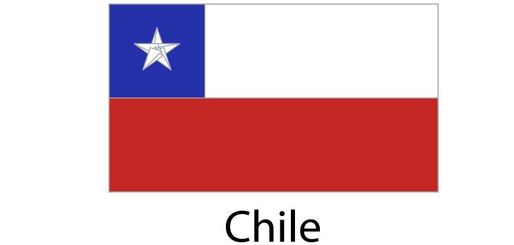 Chile Flag sticker die-cut decals