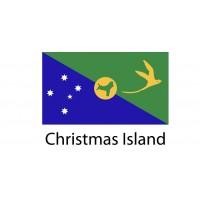 Christmas Island Flag sticker die-cut decals