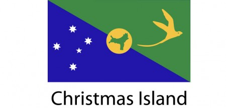Christmas Island Flag sticker die-cut decals