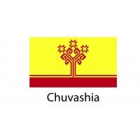 Chuvashia Flag sticker die-cut decals