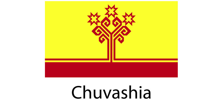 Chuvashia Flag sticker die-cut decals