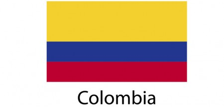 Colombia Flag sticker die-cut decals
