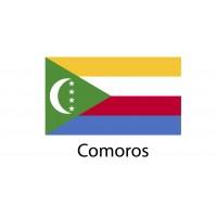 Comoros Flag sticker die-cut decals