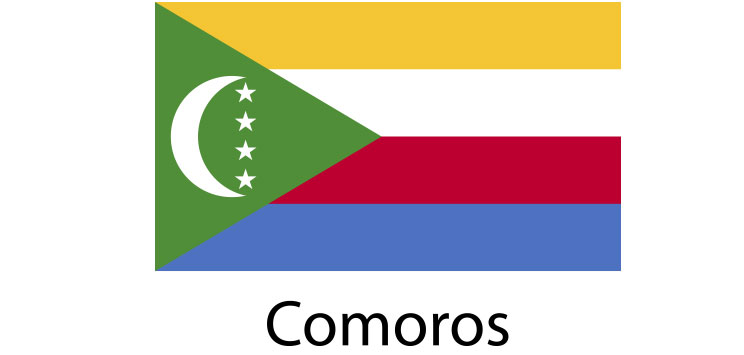 Comoros Flag sticker die-cut decals