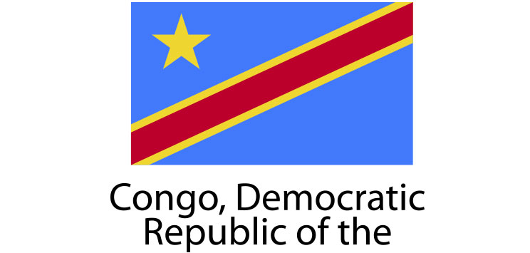 Congo democratic republic flag sticker die cut decals