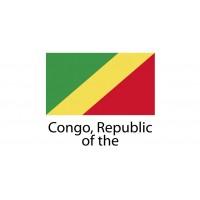Congo Republic Flag sticker die-cut decals