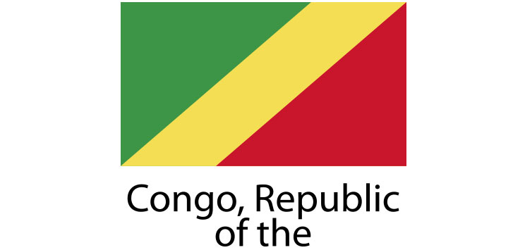 Congo republic flag sticker die cut decals