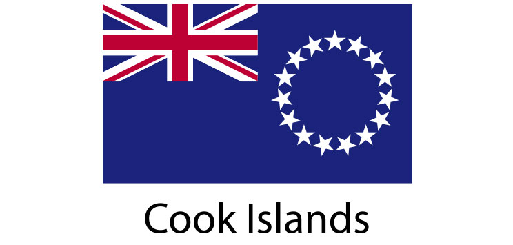 Cook Islands Flag sticker die-cut decals