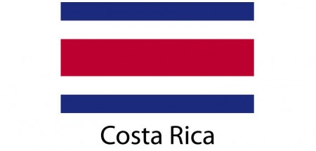 Costa Rica Flag sticker die-cut decals
