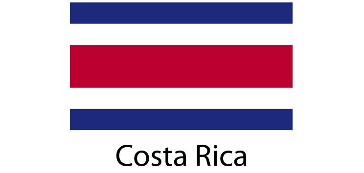 Costa Rica Flag sticker die-cut decals