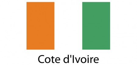 Cote D'Lvoire Flag sticker die-cut decals