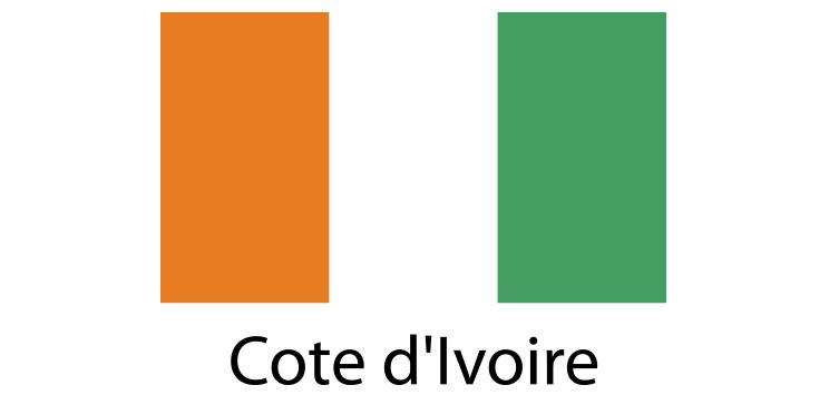 Cote D'Lvoire Flag sticker die-cut decals
