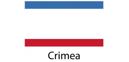 Crimea Flag sticker die-cut decals