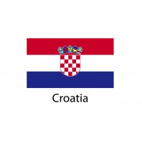 Croatia Flag sticker die-cut decals