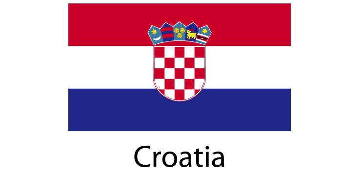 Croatia Flag sticker die-cut decals