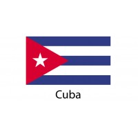 Cuba Flag sticker die-cut decals