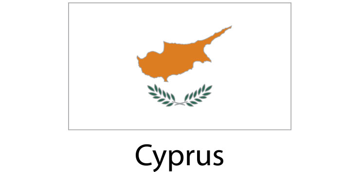 Cyprus Flag sticker die-cut decals