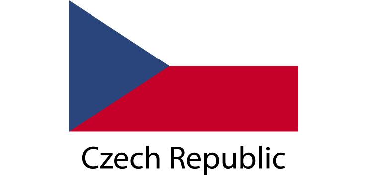 Czech Republic Flag sticker die-cut decals