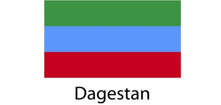 Dagestan Flag sticker die-cut decals