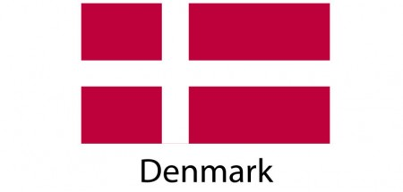 Denmark Flag sticker die-cut decals