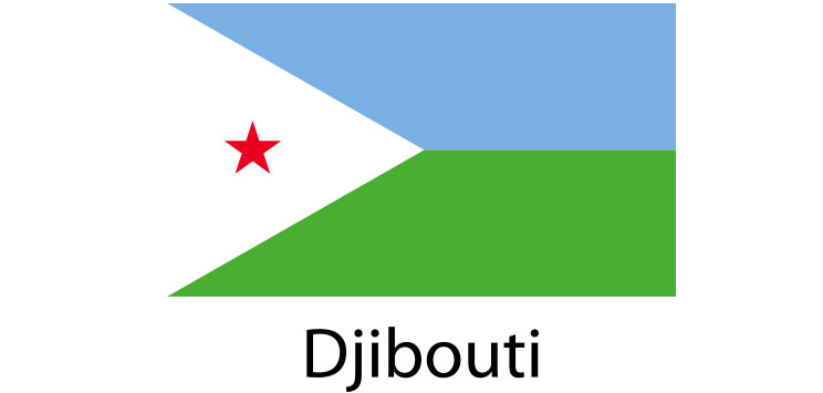 Djibouti Flag sticker die-cut decals