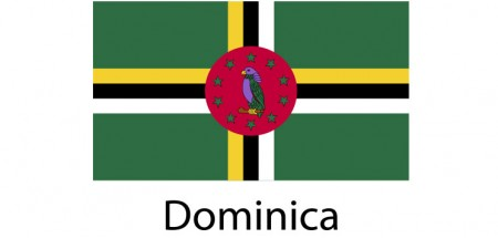 Dominica Flag sticker die-cut decals