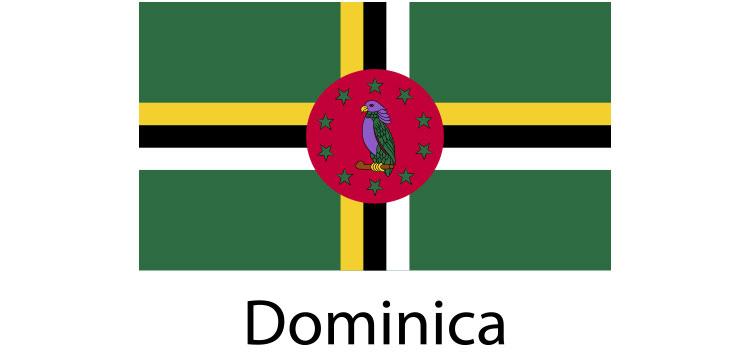 Dominica Flag sticker die-cut decals