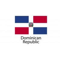 Dominican Republic Flag sticker die-cut decals