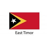 East Timor Flag sticker die-cut decals