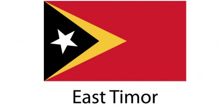 East Timor Flag sticker die-cut decals