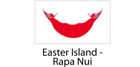 Easter Island Napa Nui Flag sticker die-cut decals