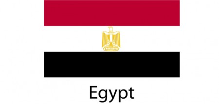 Egypt Flag sticker die-cut decals