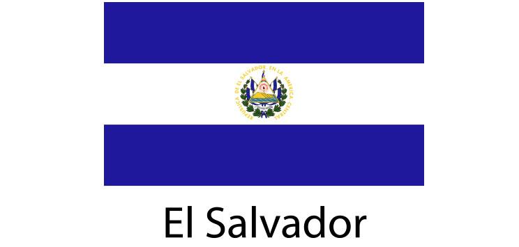 El Salvador Flag sticker die-cut decals