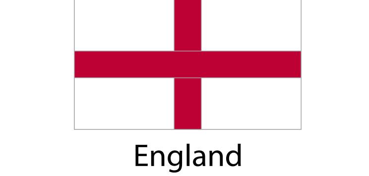 England Flag sticker die-cut decals