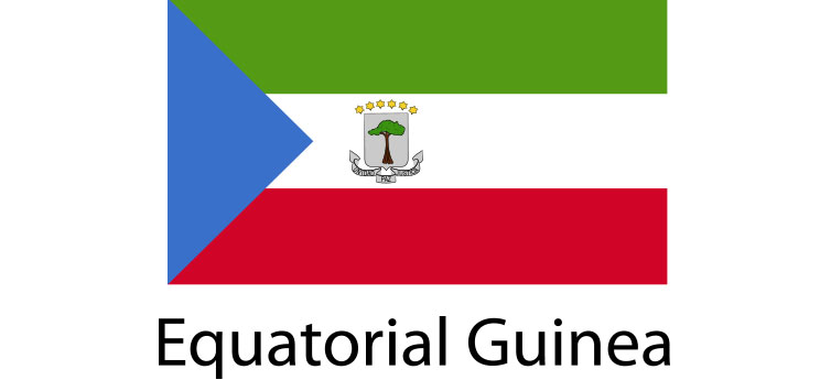Equatorial Guinea Flag sticker die-cut decals