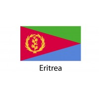 Eritrea Flag sticker die-cut decals
