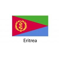 Eritrea Flag sticker die-cut decals