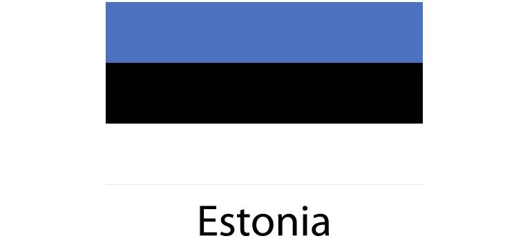 Estonia Flag sticker die-cut decals