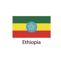 Ethiopia Flag sticker die-cut decals