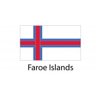 Faroe Islands Flag sticker die-cut decals